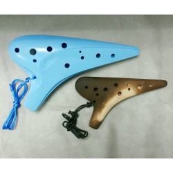"Alto C ""Straw-fired"" Triple Ocarina"